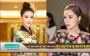VIDEO: Hoa hậu Kỳ Duyên nói gì về mối quan hệ với Á hậu Huyền My?