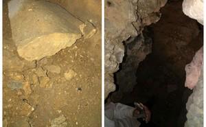 """Xôn xao """"kho báu 1 tấn vàng"""" trong hang đá: Thầy cúng đến tận hiện trường chứng minh"""