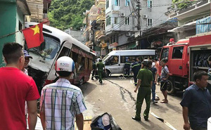 Xe khách mất phanh gây tai nạn liên hoàn, 10 người bị thương ở Hải Phòng