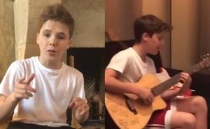 Quý tử nhà Beckham đang trên đà trở thành Justin Bieber thứ hai