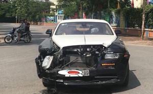 Hình ảnh xế sang Rolls-Royce Wraith nát bung đầu gây chú ý trên MXH