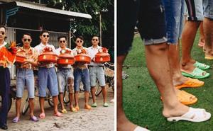 Hội bạn thân lầy lội mang dép tổ ong, diện quần áo thập niên 90 dự đám cưới concept không đụng hàng