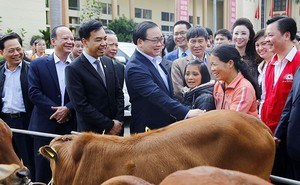 Bí Thư Thành ủy Hà Nội thăm hỏi, tặng quà hộ nghèo dịp Tết