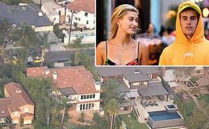 """Justin Bieber và Hailey Baldwin mỗi tháng """"đốt"""" 2,3 tỷ để thuê biệt thự khủng nằm cạnh hồ nước"""