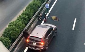 Honda CRV tông chết người đàn ông đi bộ băng qua đường cao tốc Pháp Vân - Cầu Giẽ