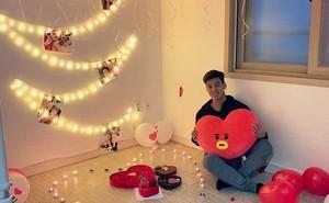 Văn Thanh và bạn gái 'gây bão' với màn đón Valentine ở Hàn Quốc