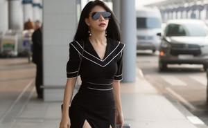 Vẻ quyến rũ khó rời mắt của Hoa hậu đang là tiếp viên hàng không Việt Nam tại sân bay