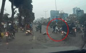 Thanh niên phóng xe đâm mạnh người phụ nữ, hành động sau đó của anh ta mới đáng trách