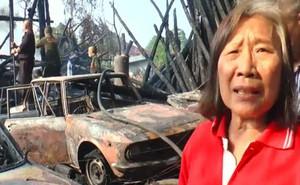 Trong chốc lát, cụ bà 72 tuổi thiêu rụi cả nhà cửa và 3 chiếc xe hơi, lý do bà đưa ra khiến nhiều người thêm tiếc của