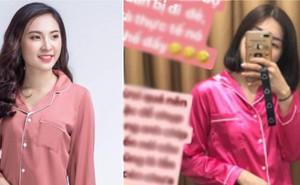 Đặt mua online bộ pijama màu hồng để đi đẻ cho xinh, cô gái kêu trời khi nhận về sản phẩm màu hường phi bóng rõ sến