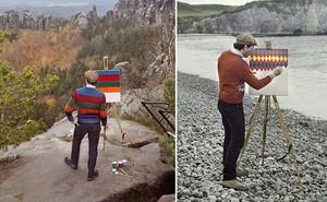 Góc rảnh rỗi: Anh họa sĩ chuyên đến điểm du lịch nổi tiếng chỉ để vẽ lại họa tiết trên áo mình