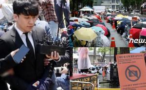 Hơn 1.700 người xếp hàng dài đội mưa biểu tình trước dinh Tổng thống, phẫn nộ vì vụ bê bối Burning Sun và Seungri