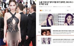 Ngọc Trinh bỗng lên top tin tức hot nhất Hàn Quốc vì lùm xùm mặc phản cảm tại Cannes, Knet nói gì?