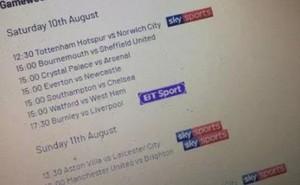 Lộ lịch thi đấu vòng 1 Premier League 2019-2020 trước ngày công bố