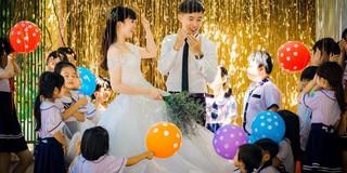 Cô giáo viên cưới chú công an và ảnh cưới có nguyên dàn phù dâu, phù rể nhí đáng yêu không để đâu cho hết