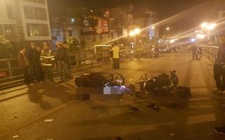 SH tông xe máy trên cầu vượt Thái Hà, 1 người tử vong