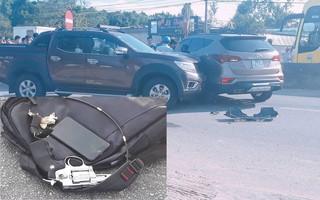 Bị tông vào đầu xe trên quốc lộ, 2 nhóm đối tượng rút súng, kiếm ra hỗn chiến