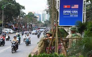 Đường phố Hà Nội trang hoàng chào đón hội nghị thượng định Mỹ - Triều