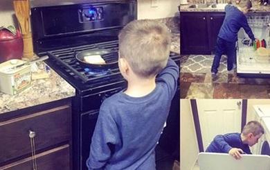 Mẹ Mỹ dạy con nấu ăn, mẹ Việt dạy con tìm người nấu cho ăn