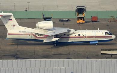 Thủy phi cơ siêu hạng Be-200 độc nhất vô nhị của Nga xuống sân bay Tân Sơn Nhất