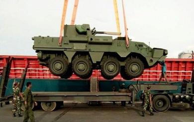 Lô xe bọc thép BTR-4M của Ukraine cập cảng Đông Nam Á