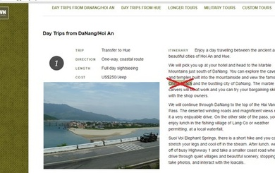 """Chặn tên miền công ty dám xuyên tạc biển Đà Nẵng là """"China Beach"""""""