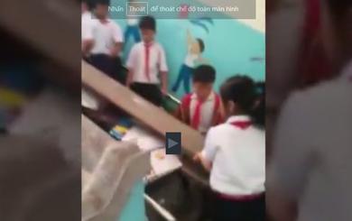 Vụ học sinh khiêng bàn ghế: Phát tán clip vì bị ngăn quay phim