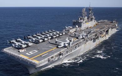 Siêu tàu đổ bộ tấn công Mỹ khiến Nga chỉ biết ngước nhìn