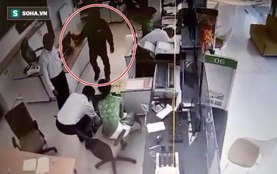 Chân dung nghi phạm bịt mặt, dùng vũ khí cướp ngân hàng ở Trà Vinh