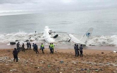 NÓNG: Máy bay vừa cất cánh đã đâm xuống biển ở Bờ biển Ngà