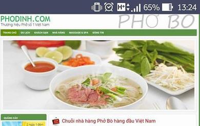 Một ngày sau khi Khaisilk công bố thương hiệu Phở Dính, tên miền phodinh.com bị mua mất và rao bán lại 10.000 USD