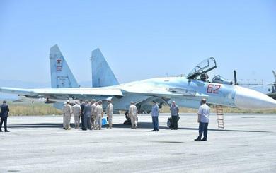 Tiêm kích Su-27SM3 xuất hiện tại Syria: Nga tăng cường binh lực ồ ạt?