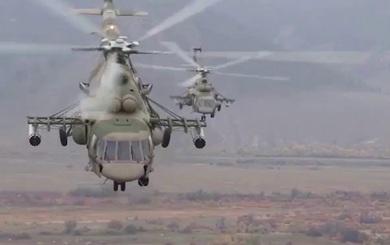 """""""Kẻ hủy diệt"""" Mi-8AMTSh ép khủng bố IS co cụm, """"thành mồi ngon"""" cho bom, pháo và tên lửa"""