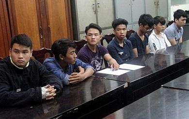 9 thanh niên đập phá hàng loạt ô tô ở Đà Nẵng bị bắt