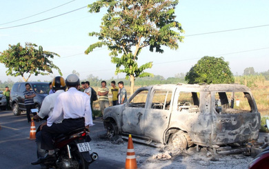 """Công an lần ra """"tay trong"""" vụ đốt xe khiến giám đốc tử vong nhờ vết bỏng nhẹ của tài xế"""