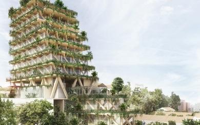 Đẹp ngỡ ngàng với tòa nhà 13 tầng được làm 100% từ gỗ