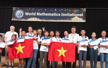Học sinh Việt Nam giành 3 giải Kim cương trong Kỳ thi Toán quốc tế WMI tại Nhật Bản