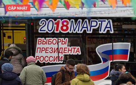 Tổng tuyển cử Nga 2018: Người dân bắt đầu đi bỏ phiếu bầu tổng thống