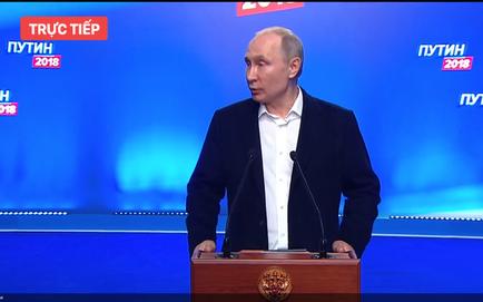 Kết quả bầu cử Nga: Ông Putin phát biểu từ trụ sở chiến dịch sau thắng lợi áp đảo