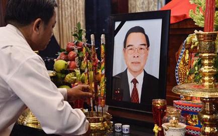 Bắt đầu lễ viếng cố Thủ tướng Phan Văn Khải tại Hội trường Thống Nhất