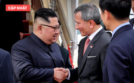NÓNG: Ông Kim Jong Un đã về tới khách sạn St Regis an toàn, bà Kim Jo Yong vừa xuống sân bay Changi