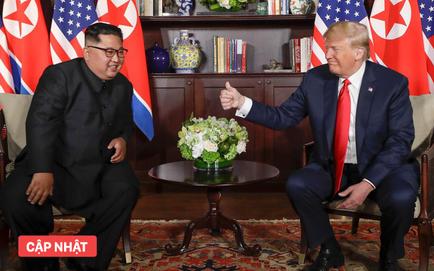 Lãnh đạo Mỹ-Triều bắt đầu phiên mở rộng sau cuộc họp kín 1-1 dài 35 phút