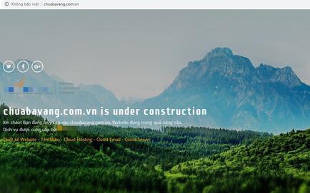 Website của chùa Ba Vàng bị yêu cầu phải dừng hoạt động vì chưa được cấp phép