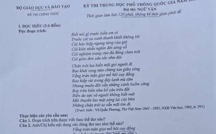 Thí sinh ở Phú Thọ bị đình chỉ, giao CA điều tra vì mang điện thoại chụp ảnh đề thi môn Ngữ văn