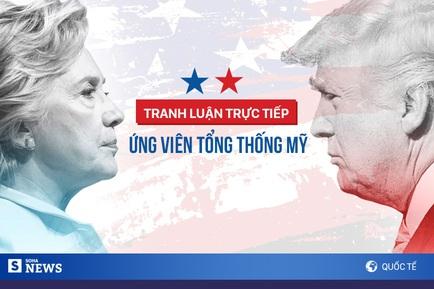 Donald Trump-Hillary Clinton tham gia cuộc tranh luận đầu tiên