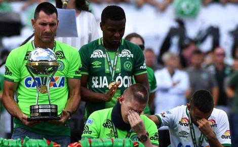 Đẫm nước mắt ngày đội bóng xấu số Chapecoense trở lại sân cỏ sau thảm họa rơi máy bay
