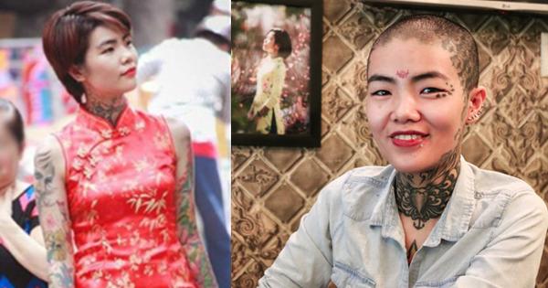 Từng bị dè bỉu giữa phố, cô gái Sài Thành bất ngờ cạo trọc xăm kín đầu