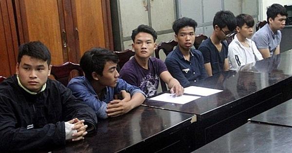 9 thanh niên đập phá hàng loạt ô tô ở Đà Nãng bị bắt