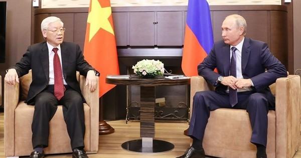Tổng thống Nga Vladimir Putin chúc mừng tân Chủ tịch Nước Nguyễn Phú Trọng