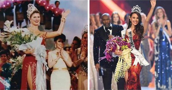 Sự trùng hợp khó tin giữa Tân Hoa hậu Hoàn vũ và người đẹp đăng quang cách đây gần 30 năm                                                                                                                                                               Ngay tr